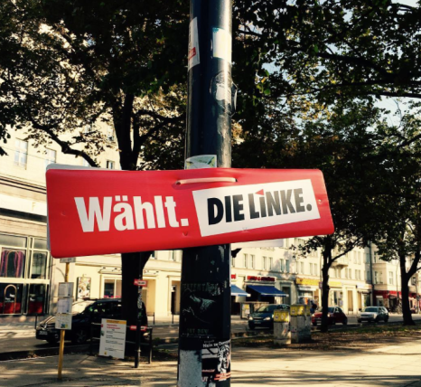 left-party-placard